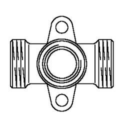 Резьбовой угольник с креплением Oventrop G3/4НР х Rp1/2 х G3/4НР, артикул 1506253, проходной