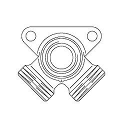 Резьбовой угольник с креплением Oventrop G3/4НР х Rp3/4 х G3/4НР, артикул 1506153, угловой