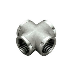 TIEMME Крестовина ВВ 3/4 никелированная для стальных труб резьбовая 1500304