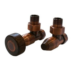 Комплект SCHLOSSER PRESTIGE, угловой античная медь, для пластиковых труб GW M22х1,5 х 16х2 (цилиндрическая широкая рукоятка), арт. 604500044
