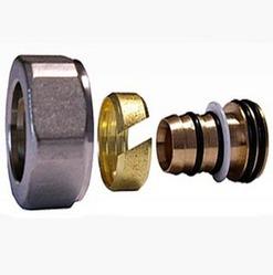 Резьбовое соединение SCHLOSSER для пластиковых труб никелированное GW 22x1.5 x 16x2, арт. 602600003