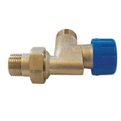 Клапан SCHLOSSER термостатический угловой специальнй DN15 GZ 1/2 x M22 x 1,5GZ, арт. 601200008