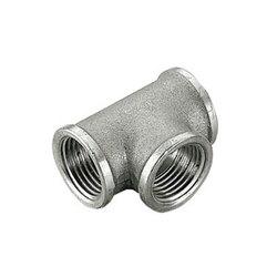Тройник TIEMME ВВ 1x1/2x1 никелированный для стальных труб резьбовой 1500180