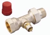 Клапан терморегулирующий радиаторный, Danfoss RA-N 013G0038, Ду25, 1, прямой никелированный (для двухтрубной системы)