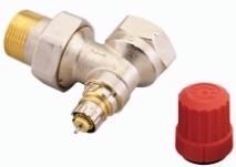 Клапан терморегулирующий радиаторный, Danfoss RA-N 013G0037, Ду25, 1, угловой никелированный (для двухтрубной системы)