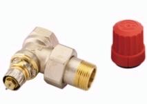 Клапан терморегулирующий радиаторный, Danfoss RA-N 013G0015, Ду20, 3/4, угловой никелированный (для двухтрубной системы)