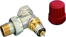Клапан терморегулирующий радиаторный, Danfoss RA-N 013G3903, Ду15, 1/2, угловой никелированный (для двухтрубной системы)