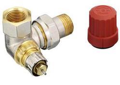 Клапан терморегулирующий радиаторный, Danfoss RA-N 013G0231, Ду10, 3/8, угловой трехосевой правый, никелированный (для двухтрубной системы)