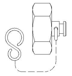 Колпачок с уплотнительным кольцом и цепочкой, Ду 25, Oventrop, артикул 1066908