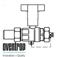 Шаровой кран Oventrop Optibal с маховиком, для высокого давления (сварка-колпачок) 1/2, артикул 1066604
