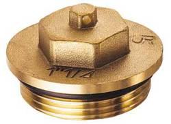 Латунная заглушка FAR (НР) из DZR-латуни, с уплотнением FK 4149 114, размер 1 1/4
