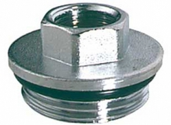 Хромированный концевой переходник для модульных коллекторов Far START (НР-ВР) FK 4200 11434, размер 1 1/4 х 3/4