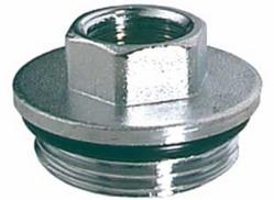 Хромированный концевой переходник для модульных коллекторов Far START (НР-ВР) FK 4200 112, размер 1 х 1/2