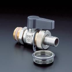 Шаровой кран Oventrop F+E Optiflex Ду15 1/2, со штуцером на шланг и колпачком, с самоуплотнением, артикул 1033314