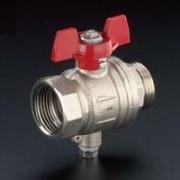 Шаровой кран Oventrop со штуцером для датчика температуры Ду25 1, артикул 1406708