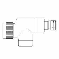 Вентиль (термостатический клапан) Oventrop серия E (эксклюзивная) осевой Ду15 1/2, артикул 1163232, цвет антрацит (черный)