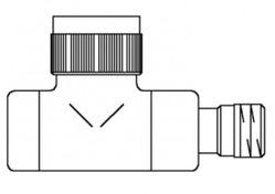 Вентиль (термостатический клапан) Oventrop серия E (эксклюзивная) прямой Ду15 1/2, артикул 1163182, цвет матовая сталь