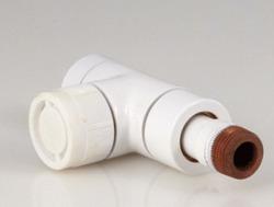 Вентиль (термостатический клапан) Oventrop серия E (эксклюзивная) прямой Ду15 1/2, артикул 1163162, цвет белый