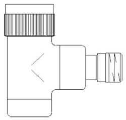 Вентиль (термостатический клапан) Oventrop серия E (эксклюзивная) угловой Ду15 1/2, артикул 1163042, цвет никелированный