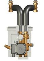 Meibes *Исполнение с двухходовым клапаном, с термостатическим приводом (25–50 °С) c насосом Wilo Pumpe HU 15/6-2-3. Артикул (ME 27409.1)