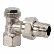Запорный вентиль на обратку Oventrop Combi 3, угловой никелированный латунь Ду20 (3/4), артикул 1090363
