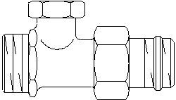 Запорный вентиль на обратку Oventrop Combi 2, прямой никелированный 3/4 х 1/2, артикул 1091172, резьбовое соединение с самоуплотнение