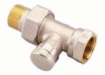 Клапан запорный Danfoss на обратку для бокового присоединения, RLV 20, 3/4, прямой никелированный, артикул 003L0146
