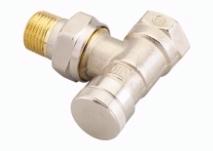 Клапан запорный Danfoss на обратку для бокового присоединения, RLV 15, 1/2, угловой никелированный, артикул 003L0143
