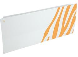 Дизайн-радиатор Lully коллекция Зебра zb-01 steel (цвет желтый) боковое подключение