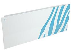 Дизайн-радиатор Lully коллекция Зебра zb-01 steel (цвет голубой) боковое подключение