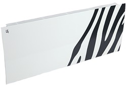 Дизайн-радиатор Lully коллекция Зебра zb-02 steel (цвет черный) боковое подключение