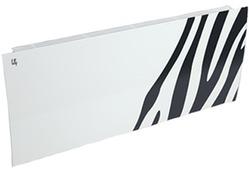 Дизайн-радиатор Lully коллекция Зебра zb-01 steel (цвет черный) боковое подключение