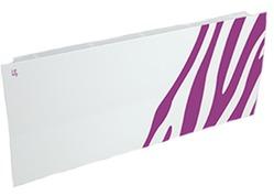 Дизайн-радиатор Lully коллекция Зебра zb-02 steel (цвет фиолетовый) боковое подключение