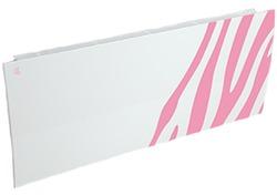 Дизайн-радиатор Lully коллекция Зебра zb-01 steel (цвет розовый) боковое подключение