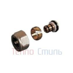 Фитинг для блока нижнего подключения TR 97  для труб из металлопластика (20 х 2,0 мм, метрическая резьба 24 х 19 мм)