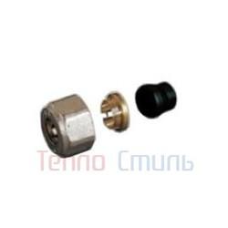 Фитинг для блока нижнего подключения TR 91  для медной трубы (15 мм, метрическая резьба 24 х 19 мм)